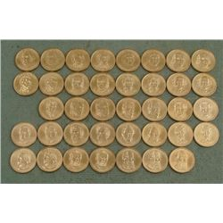 38 Coin Presidential Dollar Set UNC 2007-2011