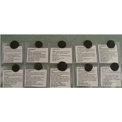 10 Roman Ancient Coins Constantius II Collection