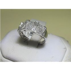 .41 Carat All Diamonds 14K White Gold Ring