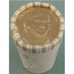 1 Bank Roll 2007-D UNC Jefferson Presidential Dollars