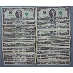 45 G Mint Chicago 1976 $2 Two Dollar Bills -All Nice