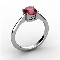 Garnet 1.00 ctw Ring14kt White Gold