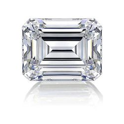 GIA 0.51 ctw Certified Emerald Brilliant Diamond F,SI1