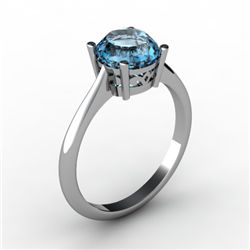Topaz 1.55 ctw Ring 14kt White Gold