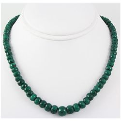 276.93ctw Natural Emerald Rondelles Necklace