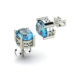 Topaz 3.20ctw Earring 14kt White Gold