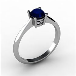 Sapphire 0.65 ctw Ring14kt White Gold