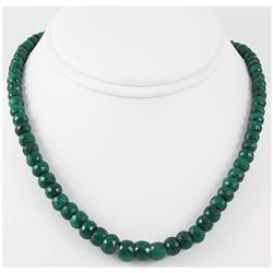 269.09ctw Natural Emerald Rondelles Necklace