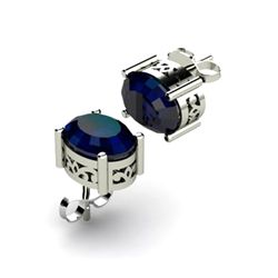 Sapphire 2.00ctw Earring 14kt White Gold