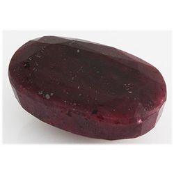 Ruby 220.5ct Loose Gemstone 40x25mm Oval Cut