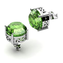 Tourmaline 3.00ctw Earring 14kt White Gold