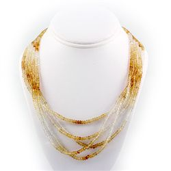 38ctw Natural Citrine & White Topaz Silver Sets