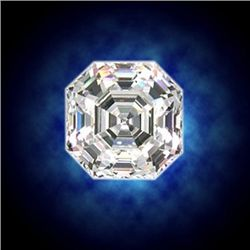 EGL 1.60 ctw Certified Asscher Brilliant Diamond, J, VS