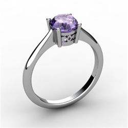 Tanzanite 1.00 ctw Ring 14kt White Gold