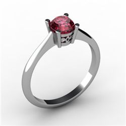 Garnet 0.60 ctw Ring 14kt White Gold