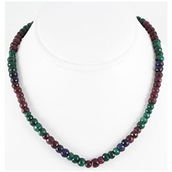 234.46ct Natural Multi-Color Rondelles Necklace