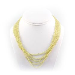 272ctw Faceted Lemon Topaz Silver Sets