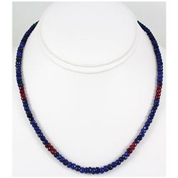 113.84ct Natural Multi-Color Faceted Beads Necklace