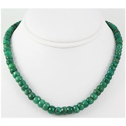 275.68ctw Natural Emerald Rondelles Necklace