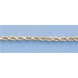 """Pure Gold 16"""" 14k Gold-Yellow 1.5mm DC Rope Chain 3.7g"""