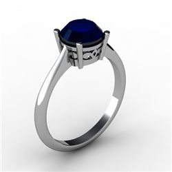 Sapphire 1.60 ctw Ring 14kt White Gold
