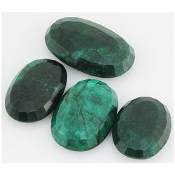 Emerald 530ct Loose Gemstone Mix Sizes Oval Cut