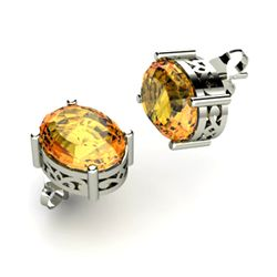 Citrine 3.50ctw Earring 14kt White Gold