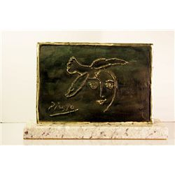 Pablo Picasso  Original, Limited Edition Bronze -L' Homme en Prole a la Paix Couronne Dl Espoir