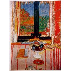 Pierre Bonnard TABLE in the FRONT WINDOW  Signed Limited Ed. Lithograph