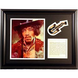 Jimi Hendrix  Giclee with mini guitar