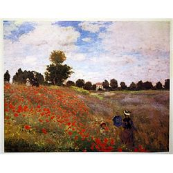 Poppy Field by Monet