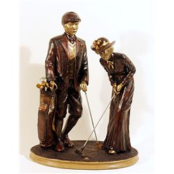 Lady and Gentlemen Golfers Sculpture