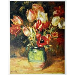 Tulips in a Vase by Renoir