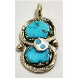 Zuni Turquoise Snake Pendant - Effie Calavaza