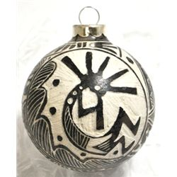 Navajo Kokopelli Horsehair Christmas Tree Ornament - Elaine Whitegoat