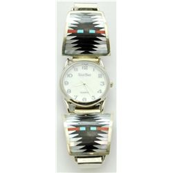 Zuni Multi-Stone Men's Watch - C. Dishta
