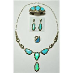 Navajo Blue Opal 4-Piece Set - Clem Nalwood
