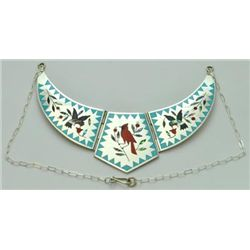 Zuni Multi-Stone Bird Large Necklace - Dennis & Nancy Edaakie