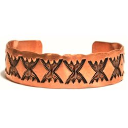 Navajo Copper Cuff Bracelet - Nora Bill