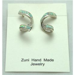 Zuni Opal Spiraling Earrings