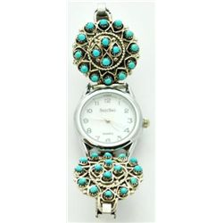 Zuni Turquoise Dotted Women's Watch - Wayne Johnson Sr.