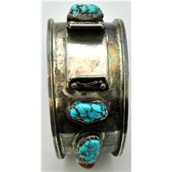Old Pawn Coral & Sleeping Beauty Turquoise Men's Watch