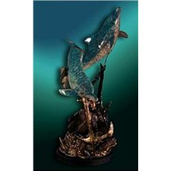 Bronze Sculpture - Lost Treasure Dolphins by Piquera