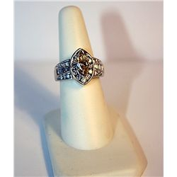 Ladies 14K Yellow Gold Diamond Ring