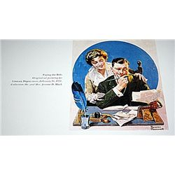Norman Rockwell Lithograph-Paying the Bills