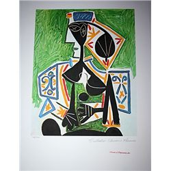 Limited Edition Picasso - Woman In Green - Collection Domaine Picasso