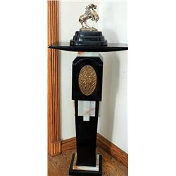 Remington Real .999 Silver -Rattlesnake with Pedestal