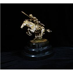 Remington Limited Edition 24K Gold Layered Bronze  Sculpture -Cheyenne