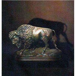 Bronze Sculpture - Buffalo Standing by Kauba