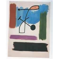 Woman Walking Down Street - Miro - Limited Edition on Canvas